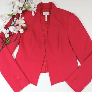Laundry Shelli Segal coral/red flat front blazer